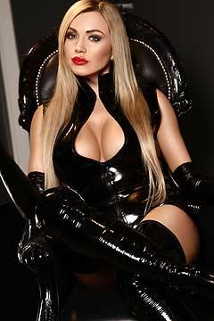 blonde latex domantrix