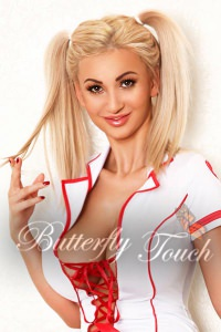 HOT busty blonde A-level escort in Chelsea